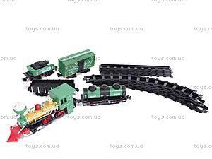 Детская железная дорога с дымом, V8099, игрушки