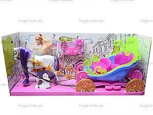 Детская карета с куклой, 689Н, детские игрушки