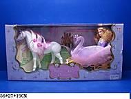 Детская карета с лошадью и куклой, 54586
