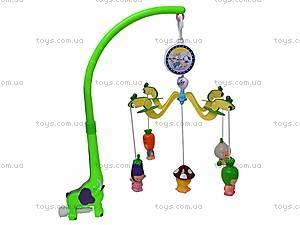 Детская карусель с резиновыми игрушками, JB555-6B