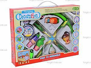 Детская карусель с резиновыми игрушками, JB555-6B, цена