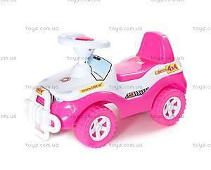 Детская каталка «Джипик», розовая, 105_Р