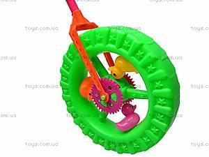 Детская каталка-колесо на палочке, 887-1, цена