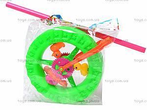 Детская каталка-колесо на палочке, 887-1, игрушки