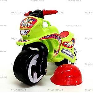 Детская каталка мотоцикл с каской, 11-007, купить