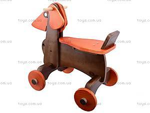 Детская каталка-собака деревянная, К012, фото