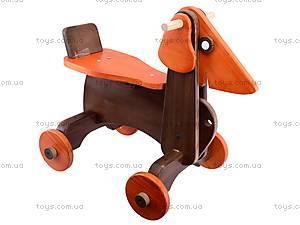 Детская каталка-собака деревянная, К012