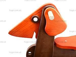 Детская каталка-собака деревянная, К012, отзывы