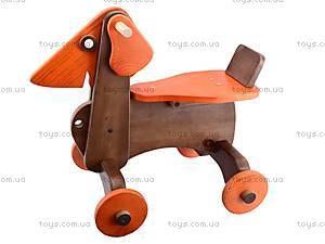 Детская каталка-собака деревянная, К012, цена