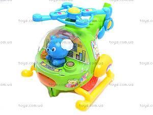 Детская каталка «Вертолет», с ручкой, 2867, купить