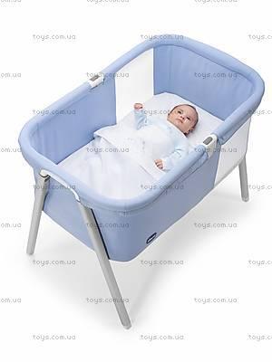 Детская кроватка LullaGo, голубая, 79812.09, фото