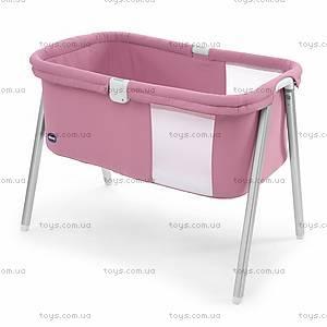 Детская кроватка LullaGo, розовая, 79812.06