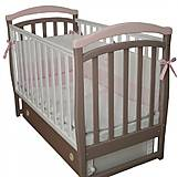 Детская кроватка Верес Соня ЛД-6 Капучино-розовый, 6.12, фото