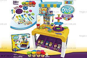 Детская кухня с пластилином и посудой, 8726, купить