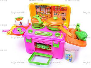 Детская кухня, с посудой и продуктами, 6913(BT-KS-20