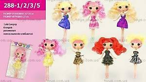 Детская кукла  6 видов, 288-1235