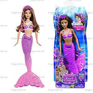 Детская кукла Барби-русалка «Принцесса жемчужин», BDB47