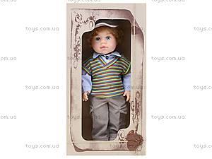 Детская кукла «Женя» в жилете, B2111, фото