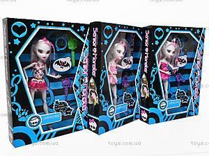 Детская кукла Monster High, с аксессуарами, 668E+