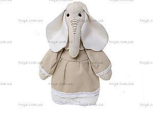 Детская кукла ручной работы «Миссис Слониха», HEMP10003(UA)