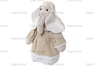 Детская кукла ручной работы «Миссис Слониха», HEMP10003(UA), купить
