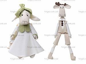 Детская кукла ручной работы «Мистер Лось», HEMP10002(UA), фото