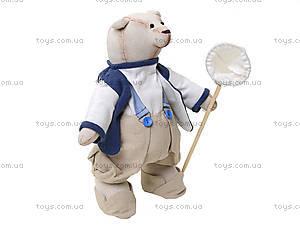 Детская кукла ручной работы «Мистер Медведь», HEMP10004(UA), купить