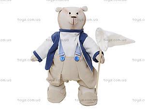 Детская кукла ручной работы «Мистер Медведь», HEMP10004(UA)