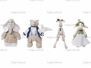 Детская кукла ручной работы «Мистер Медведь», HEMP10004(UA), фото