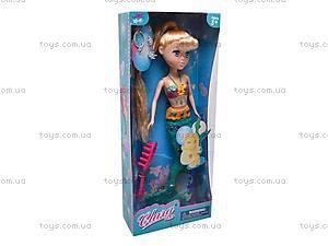 Детская кукла-русалка Clara, 12031A, игрушки