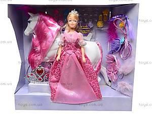 Детская кукла с лошадью и аксессуарами, 709134, игрушки
