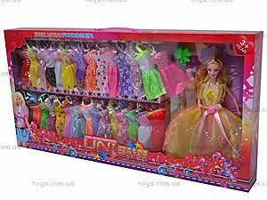 Детская кукла, с набором платьев, 988B, фото