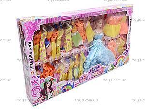 Детская кукла с нарядами, 6688A/88B
