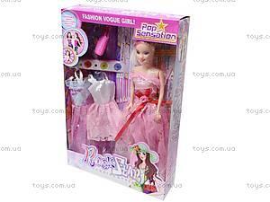 Детская кукла с платьями, 6608 A