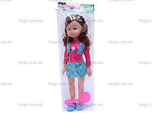 Детская кукла, с расческой, K18, купить