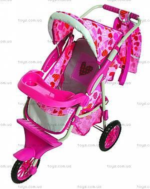 Детская кукольная коляска с сумочкой, 3 колеса, B320-4