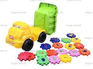 Детская машина «Смайл» с конструктором, 013585, цена