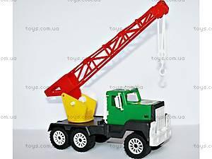 Детская машинка Кран цветной, МГ 129