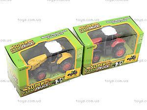 Детская металлическая машина «Трактор», 77031, игрушки
