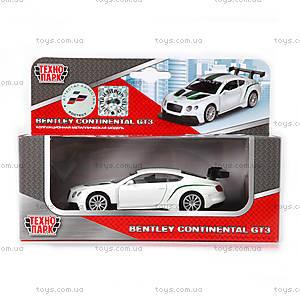 Детская металлическая машинка Bentley Continental GT3, 67319, купить