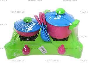 Детская мини-кухня с плитой, 04-417, купить