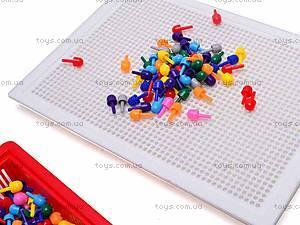 Детская мозаика, 310 фишек, 2705, детские игрушки