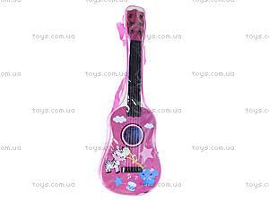 Детская музыкальная гитара в чехле, B-74D