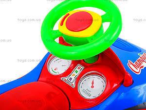 Детская музыкальная машинка-каталка «Толокар», 11-001_муз, магазин игрушек