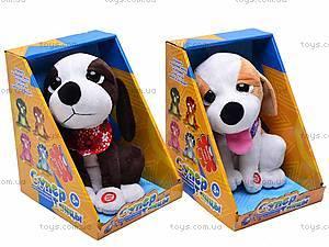 Детская музыкальная собачка, CL1118-2, детские игрушки