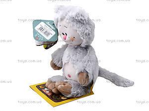 Детская мягкая игрушка «Кот-почемучка», К351АС, фото
