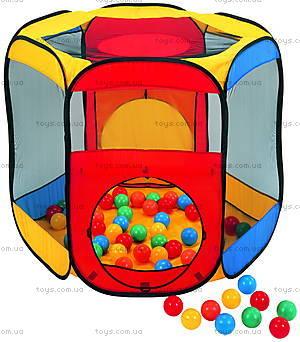 Детская палатка «Окна» с мячиками, LI-621