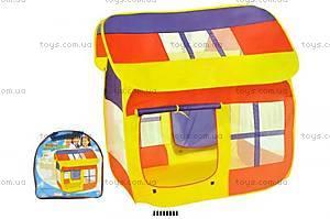 Детская палатка с окнами и дверью, 8078