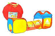 Детская палатка с переходом цветная, 995-7038B, фото