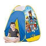 Детская палатка «Щенячий патруль», лицензия, JN71044, купить